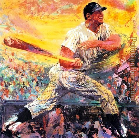 Mickey Mantle painting - Leroy Neiman Mickey Mantle art painting