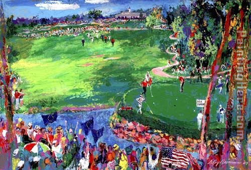 Leroy Neiman Ryder Cup Valhalla 2008 Art Painting