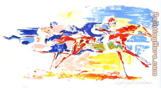 Swiss Race painting - Leroy Neiman Swiss Race art painting