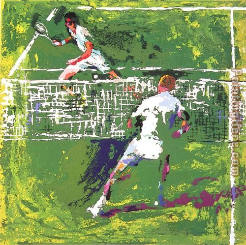 Tennis Players painting - Leroy Neiman Tennis Players art painting