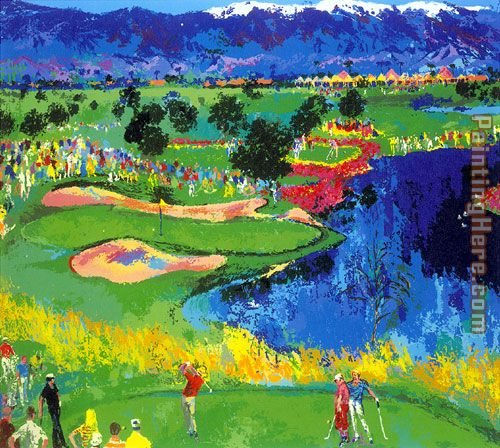 The Cove at Vintage painting - Leroy Neiman The Cove at Vintage art painting