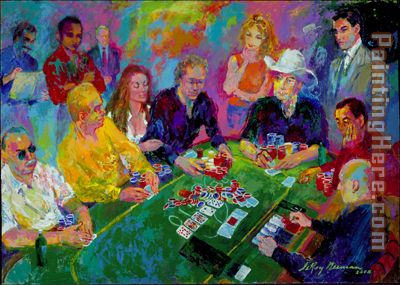 The Game painting - Leroy Neiman The Game art painting