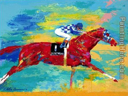 The Great Secretariat painting - Leroy Neiman The Great Secretariat art painting