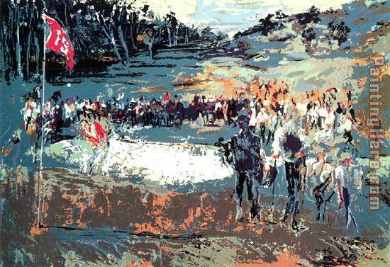 Tournament Golf painting - Leroy Neiman Tournament Golf art painting