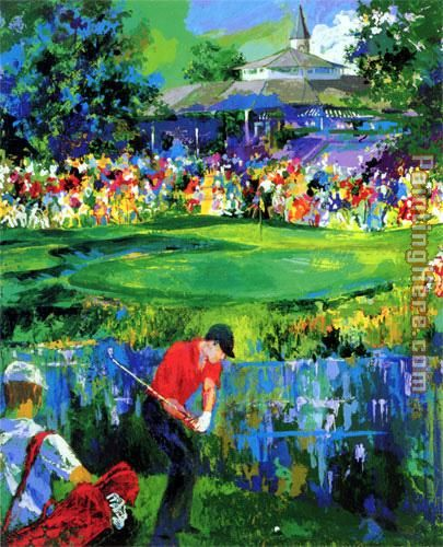 Valhalla Golf painting - Leroy Neiman Valhalla Golf art painting