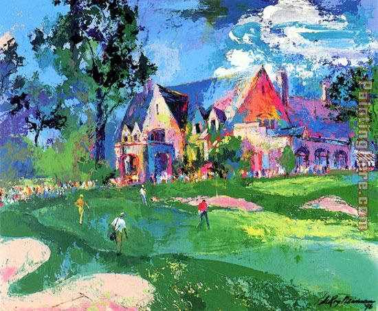 Winged Foot painting - Leroy Neiman Winged Foot art painting