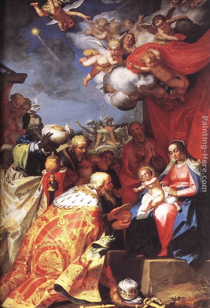 Adoration of the Magi painting - Abraham Bloemaert Adoration of the Magi art painting