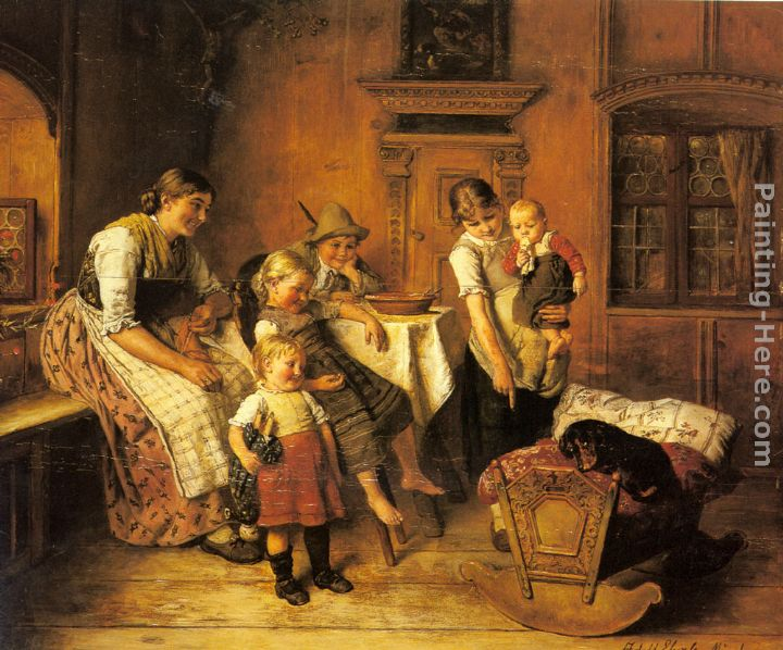 The Intruder painting - Adolf Eberle The Intruder art painting