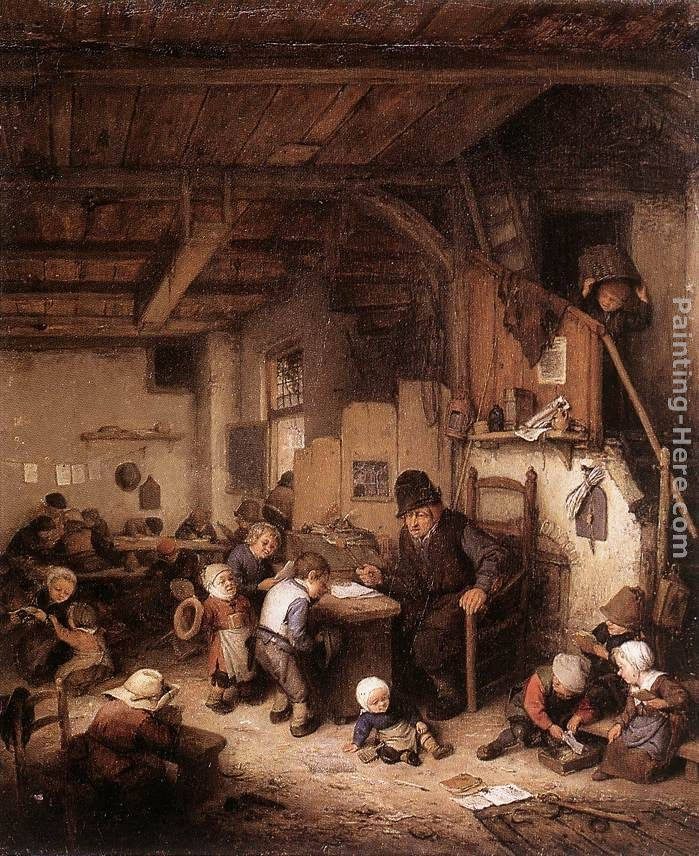 Adriaen van Ostade The School Master Art Painting