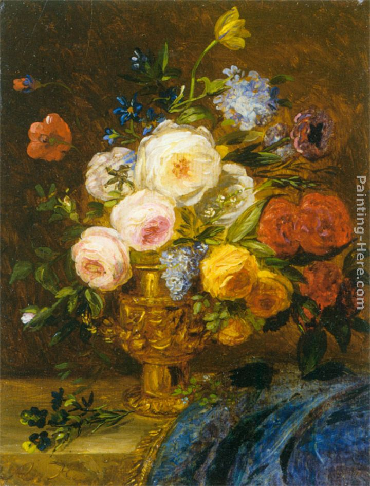Still Life with Flowers in a Golden Vase