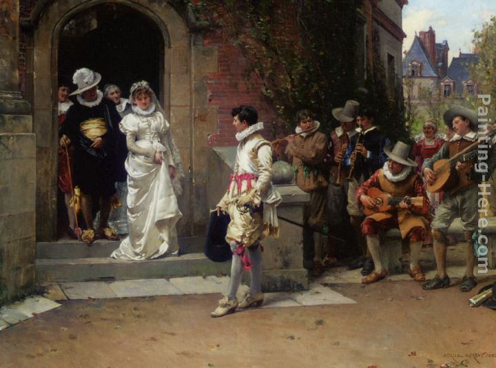 The Wedding painting - Adrien Moreau The Wedding art painting
