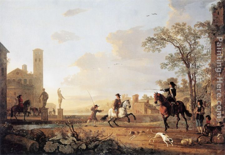 Landscape with Horse Trainers