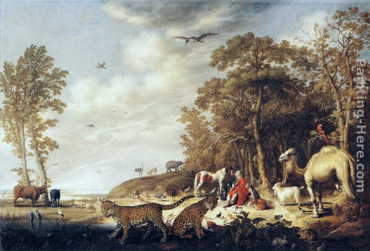 Orpheus with Animals in a Landscape painting - Aelbert Cuyp Orpheus with Animals in a Landscape art painting