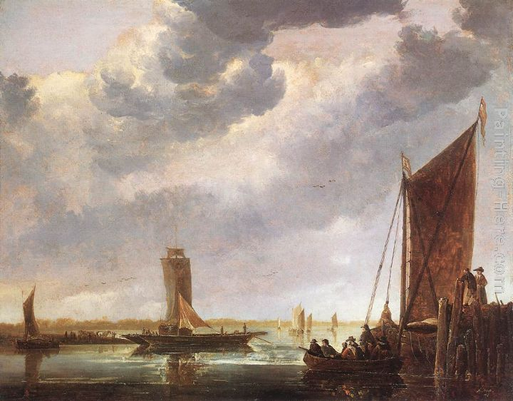 The Ferry Boat painting - Aelbert Cuyp The Ferry Boat art painting