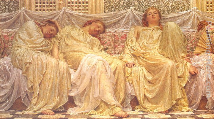 Dreamers painting - Albert Joseph Moore Dreamers art painting
