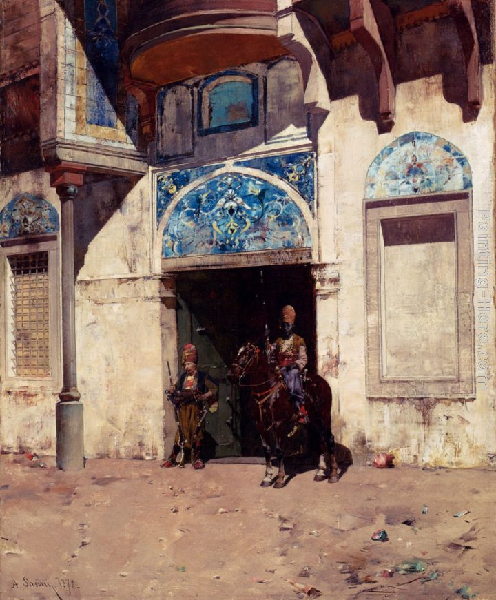 Alberto Pasini The Palace Guard Art Painting
