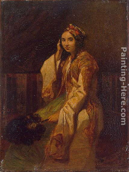 Woman in Oriental Dress painting - Alexandre-Gabriel Decamps Woman in Oriental Dress art painting