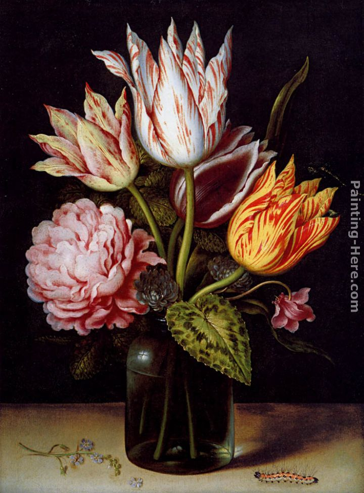 Ambrosius Bosschaert The Elder A Still Life With A Bouquet