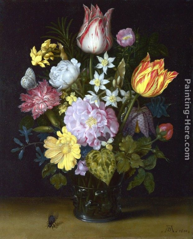 Ambrosius Bosschaert The Elder Flowers In A Vase Painting Anysize 50