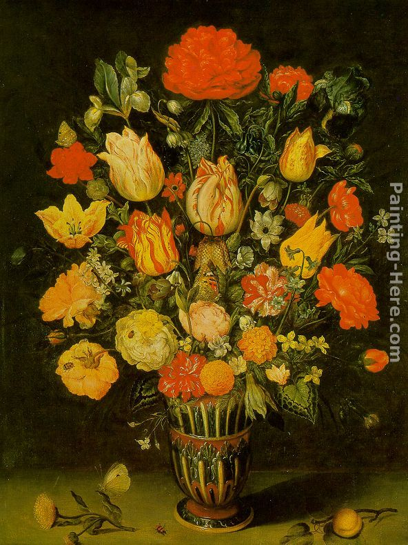 Still-Life of Flowers painting - Ambrosius Bosschaert the Elder Still-Life of Flowers art painting