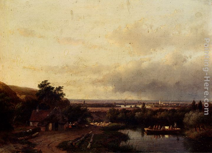 A Summer Landscape With A Ferry