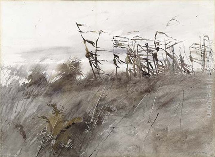 November First painting - Andrew Wyeth November First art painting