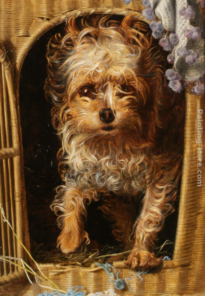 Darby in his Basket Kennel painting - Anthony Frederick Sandys Darby in his Basket Kennel art painting