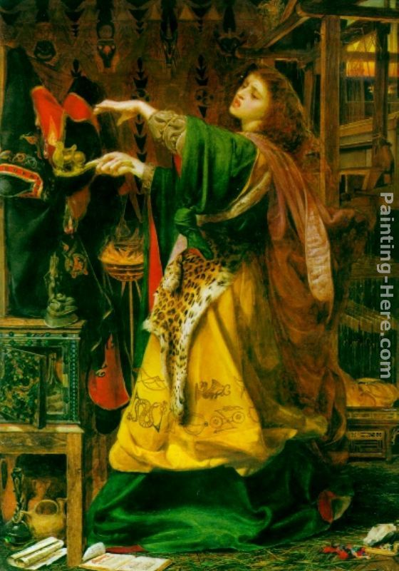 Morgana le Fay painting - Anthony Frederick Sandys Morgana le Fay art painting