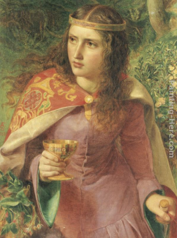 Anthony Frederick Sandys Queen Eleanor Art Painting