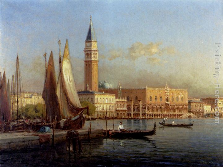 The Grand Canal, Venice painting - Antoine Bouvard The Grand Canal, Venice art painting