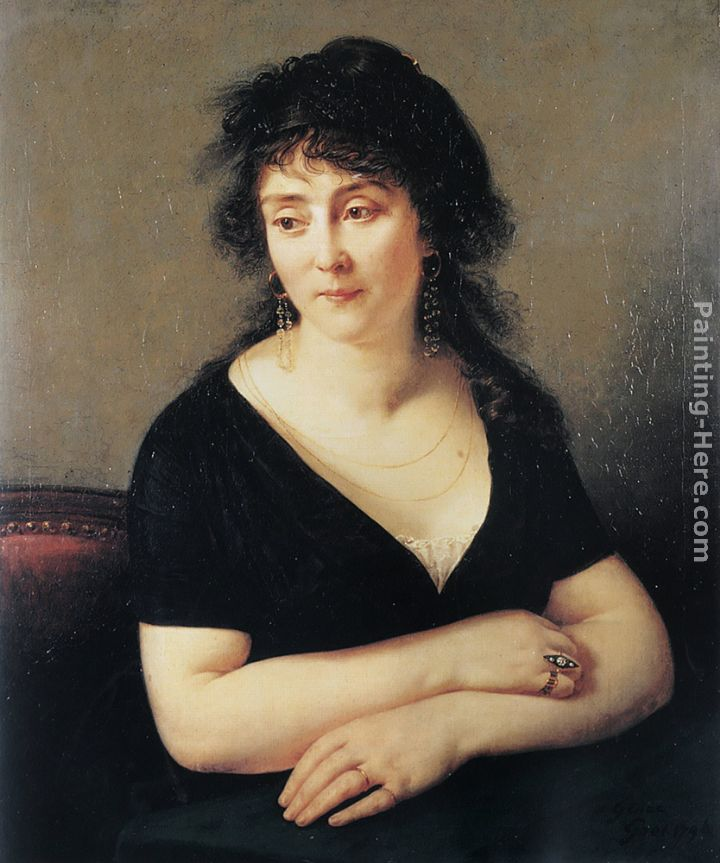 Portrait of Madame Bruyere painting - Antoine Jean Gros Portrait of Madame Bruyere art painting