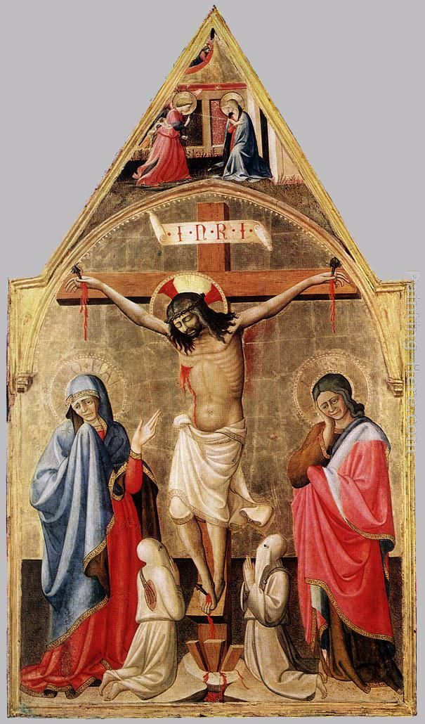 Crucifixion with Mary and St John the Evangelist painting - Antonio Da Firenze Crucifixion with Mary and St John the Evangelist art painting