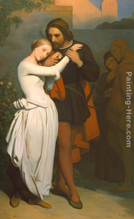 Faust and Marguerite in the Garden painting - Ary Scheffer Faust and Marguerite in the Garden art painting