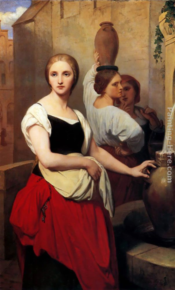 Margaret at the Fountain painting - Ary Scheffer Margaret at the Fountain art painting