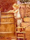 A Boy At A Water Barrel