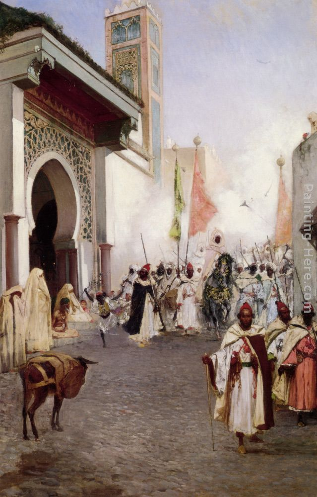Benjamin Jean Joseph Constant Entering Constantinople Art Painting