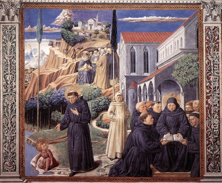 Scenes from the Life of St Francis (Scene 12, south wall) painting - Benozzo di Lese di Sandro Gozzoli Scenes from the Life of St Francis (Scene 12, south wall) art painting