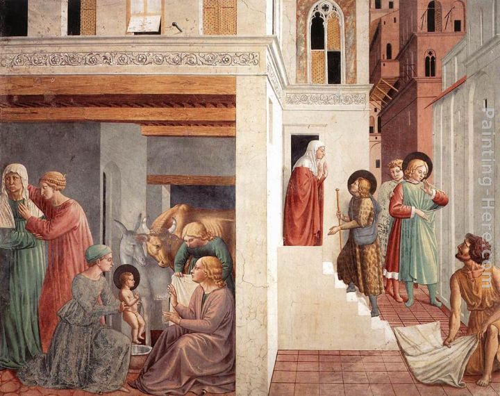 Benozzo di Lese di Sandro Gozzoli Scenes from the Life of St Francis (Scene 1, north wall) Art Painting