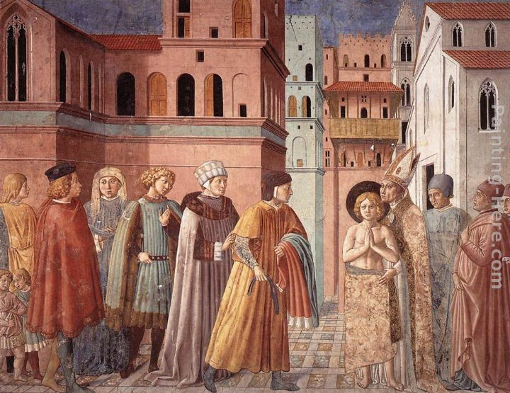 Scenes from the Life of St Francis (Scene 3, south wall) painting - Benozzo di Lese di Sandro Gozzoli Scenes from the Life of St Francis (Scene 3, south wall) art painting