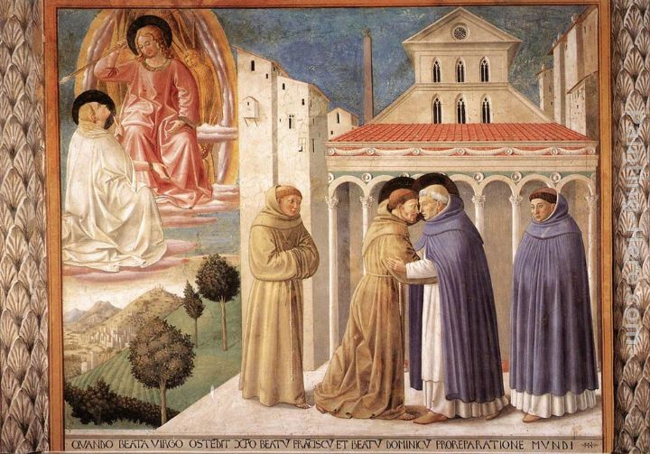 Scenes from the Life of St Francis (Scene 4, south wall) painting - Benozzo di Lese di Sandro Gozzoli Scenes from the Life of St Francis (Scene 4, south wall) art painting