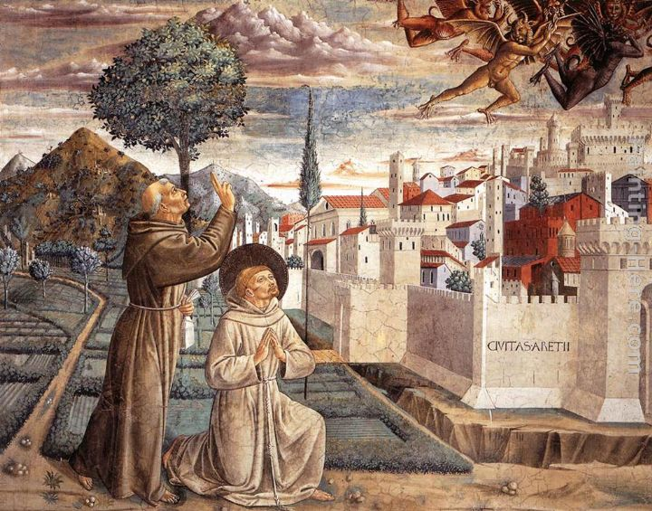 Scenes from the Life of St Francis (Scene 6, north wall) painting - Benozzo di Lese di Sandro Gozzoli Scenes from the Life of St Francis (Scene 6, north wall) art painting