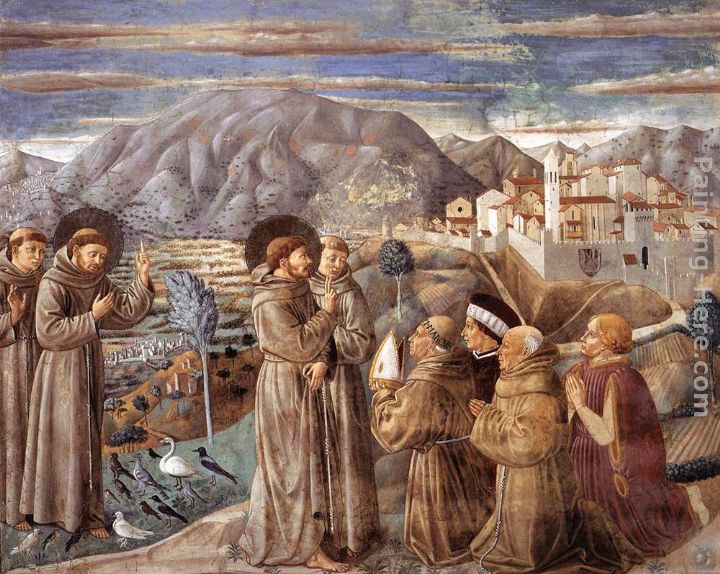 Benozzo di Lese di Sandro Gozzoli Scenes from the Life of St Francis (Scene 7, south wall) Art Painting
