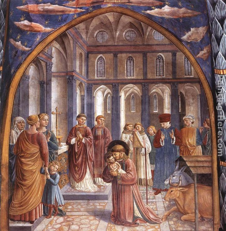 Benozzo di Lese di Sandro Gozzoli Scenes from the Life of St Francis (Scene 9, north wall) Art Painting