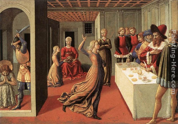 The Dance of Salome painting - Benozzo di Lese di Sandro Gozzoli The Dance of Salome art painting