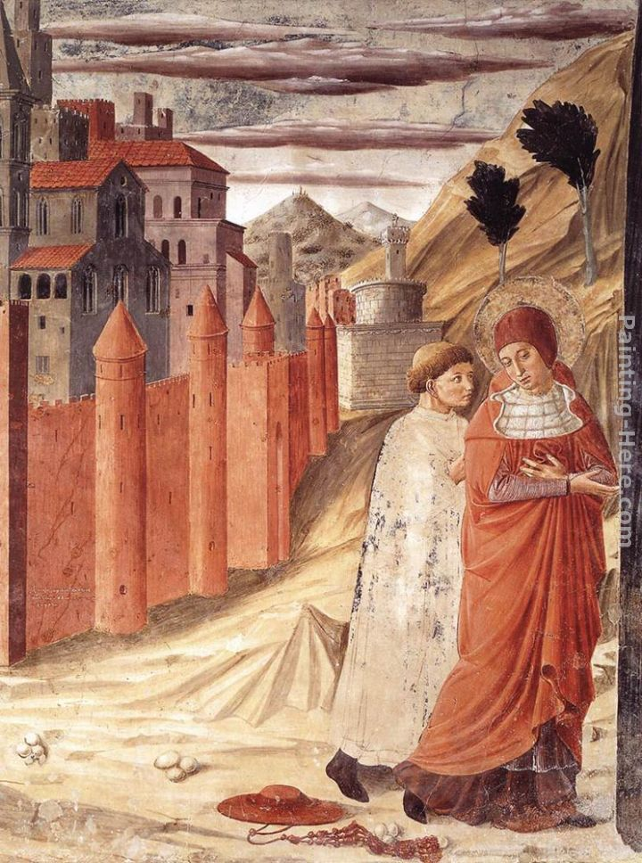 Benozzo di Lese di Sandro Gozzoli The Departure of St Jerome from Antioch Art Painting