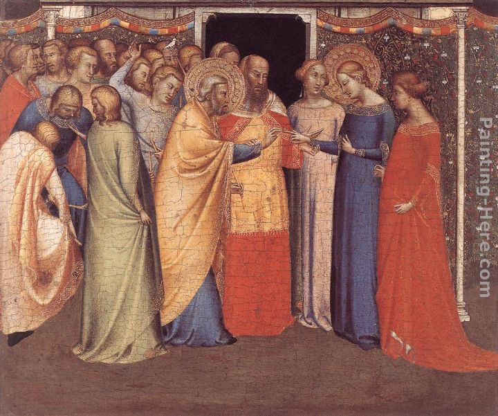 The Marriage of the Virgin painting - Bernado Daddi The Marriage of the Virgin art painting