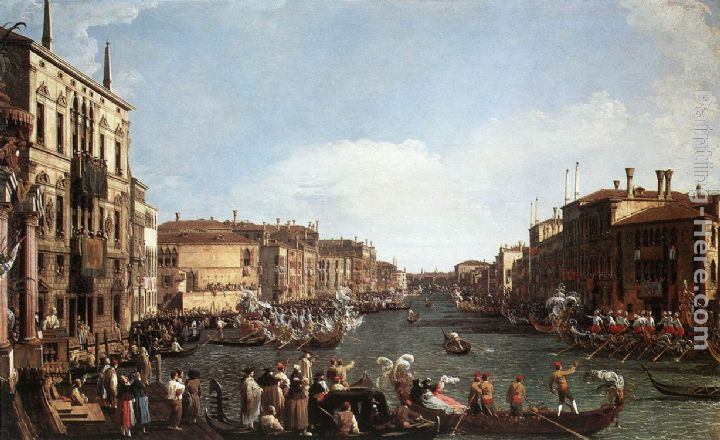 A Regatta on the Grand Canal painting - Canaletto A Regatta on the Grand Canal art painting