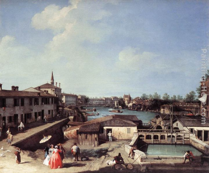 Dolo on the Brenta painting - Canaletto Dolo on the Brenta art painting