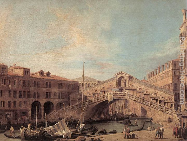 Grand Canal The Rialto Bridge from the South painting - Canaletto Grand Canal The Rialto Bridge from the South art painting