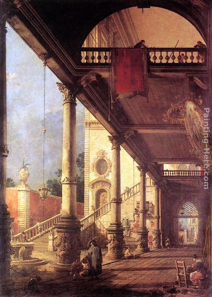 Perspective painting - Canaletto Perspective art painting